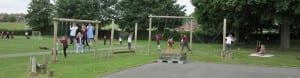 Children in the school playground