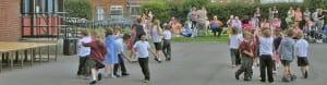 Children in school playground